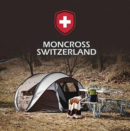 [MONCROSS SWITZERLAND] 스위스몽크로스 원터치 텐트 4~5인용_PMC-1003_브라운