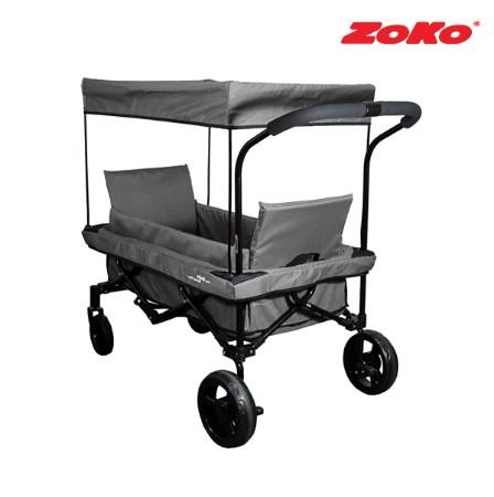 [ZOKO] 조코 NEW 프리미엄급 유모차형 웨건&트레일러 퍼니밴 ST(기본형) 그레이