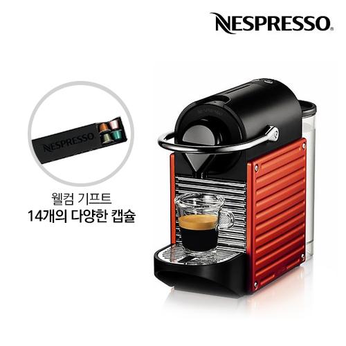 [Nespresso] 네스프레소 캡슐커피머신 픽시_C61_레드