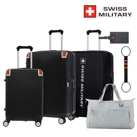 [SWISS MILITARY] 스위스밀리터리 20인치+26인치 캐리어 2종세트_SM-C92세트_블랙